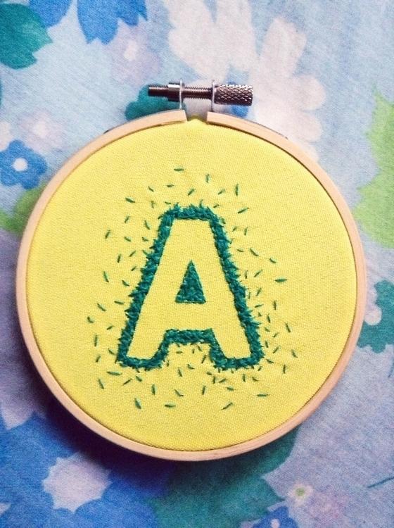 handembroidery, textile, embroidery - sienie | ello