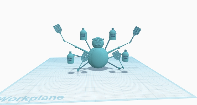 3D Modeling beautiful spider? C - slabra15m | ello