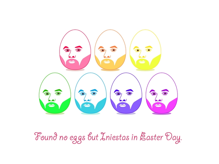 Iniesta - easterday., football, rainbow - zoevvu | ello