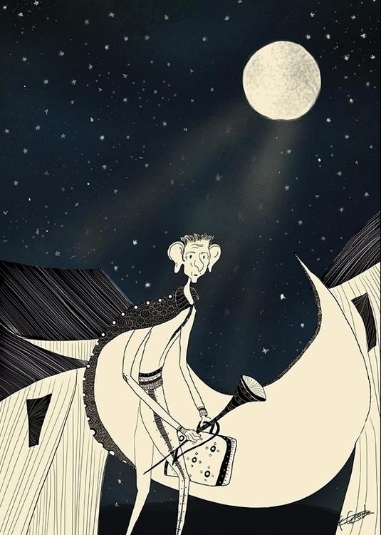 bfg, roalddahl, illustration - franniegee | ello