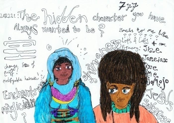 hidden character' ~2011 - jio_and_her_rags | ello