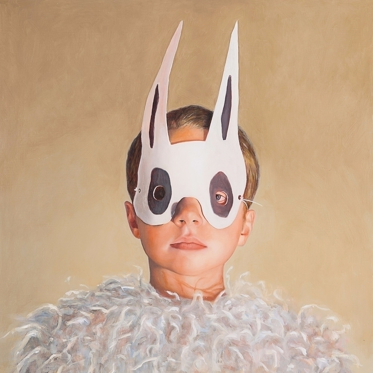 Rabbit Boy, 2012, oil board, 40 - rebeccahastings | ello