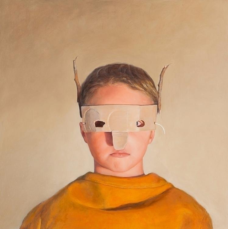 Deer Boy, 2012, oil board, 40 c - rebeccahastings | ello