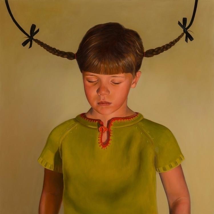Disquiet VI Ribbons), 2013, oil - rebeccahastings | ello