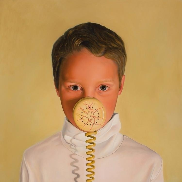 Silencer, 2013, oil board, 100  - rebeccahastings | ello