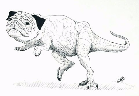 illustration, Pugssauro, Pugsaur - gabo_jurgensen | ello