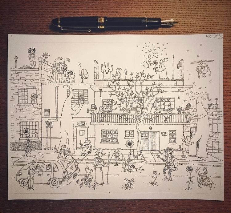 works - art, drawing, street, sketch - junkyardsam | ello