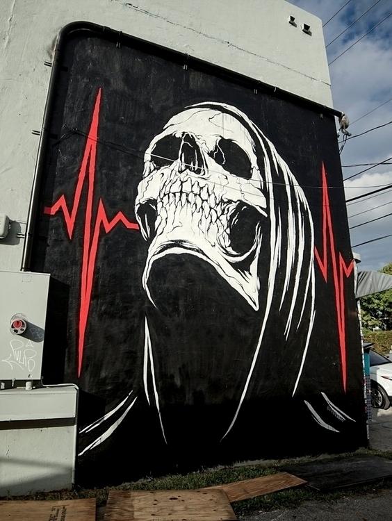 illustration, street, mural, artbaselmiami - jamesjirat | ello