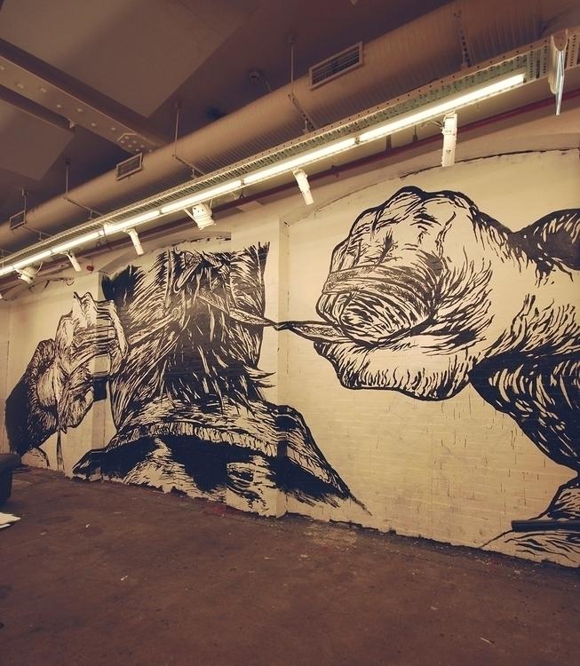 illustration, street, mural, streetart - jamesjirat | ello