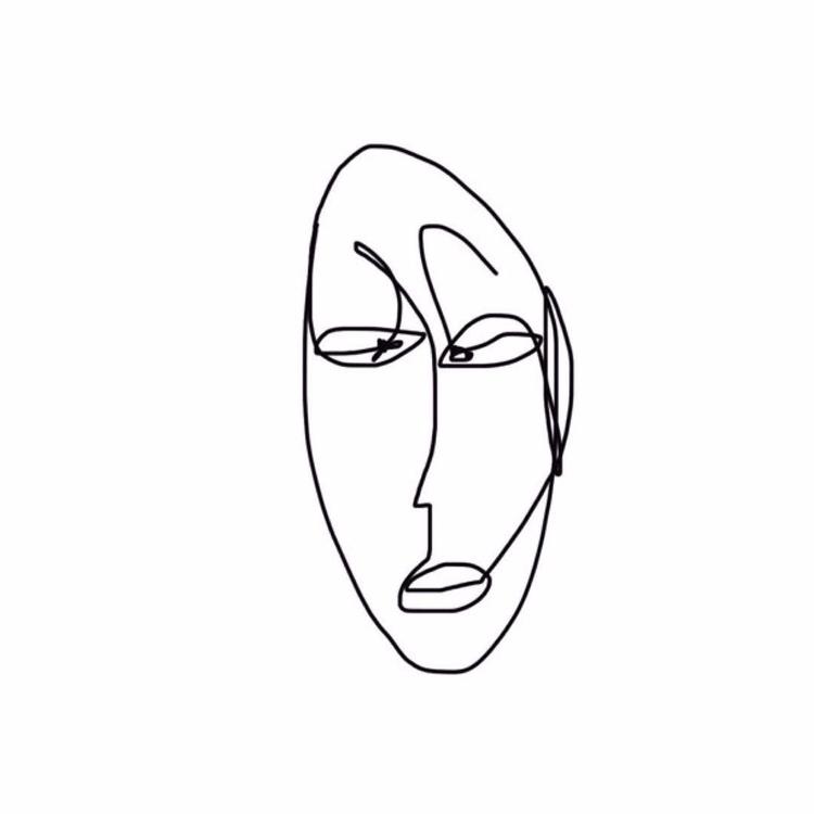 oneline, drawing, doodle, sketch - k_ng_ | ello