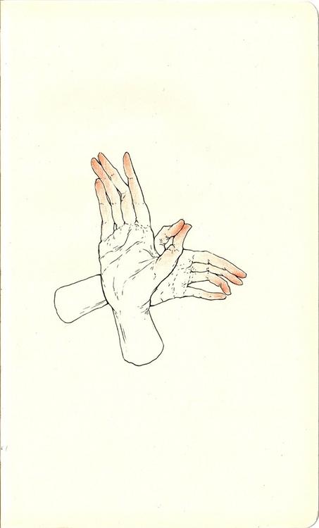Hand study - andisoto, moleskine - andimacka | ello