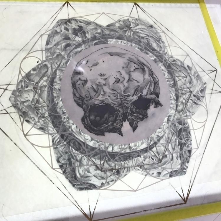 Skull, paper cut, drawing light - michaelhenleyart | ello