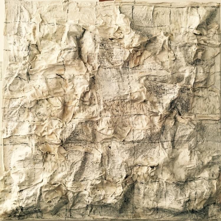 Crocodile 100x100cm framed. Acr - atolty | ello