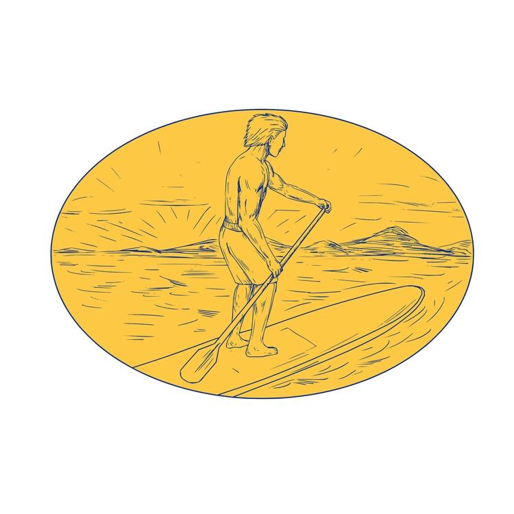 Stand Oval - Dude, Paddle, Board - patrimonio | ello