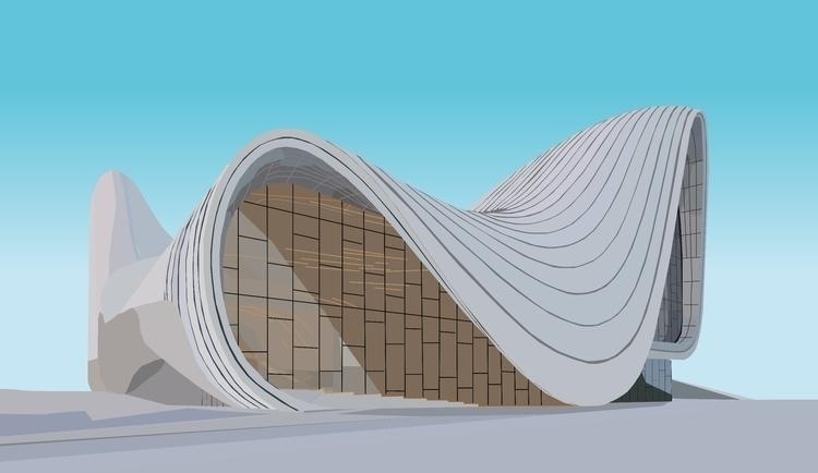 Heydar Aliyev Centre Zahl Hadid - sophieillustration | ello