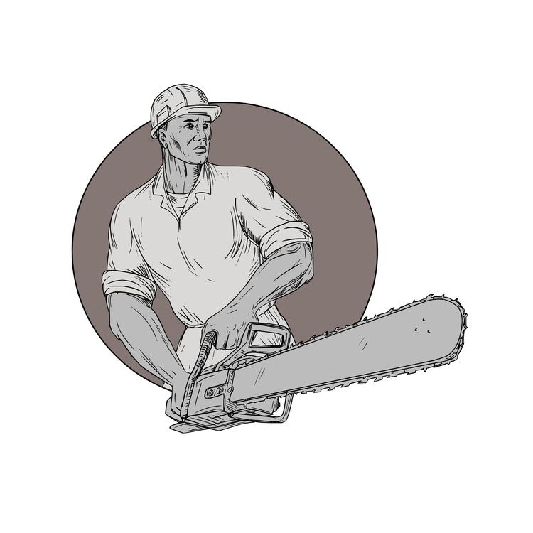 Holding Oval - Lumberjack, Arborist - patrimonio | ello