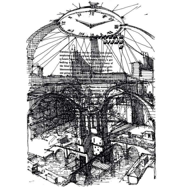 invisible cities - 1, sketch, illustration - nikolozle | ello