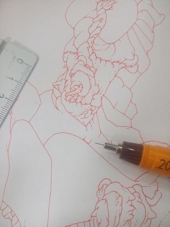 Closeup wip - rotring, rapidograph - current_debris   ello