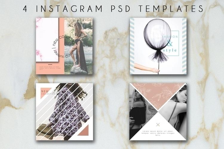 4 Instagram Fashion PSD Templat - anastasiavoutsa | ello