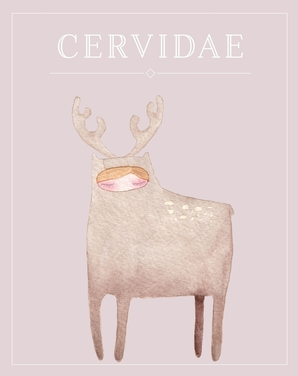 Deer - illustration, design, watercolor - almasoderlind | ello