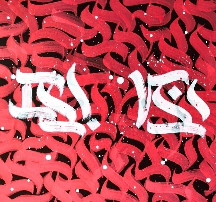 - π | . Modern Calligraphy blac - darksnooopy | ello