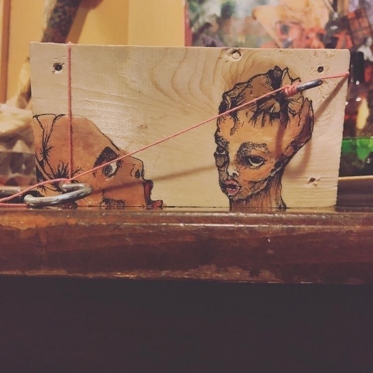 Acrylic ink wood - wood_art - sarjon_art   ello