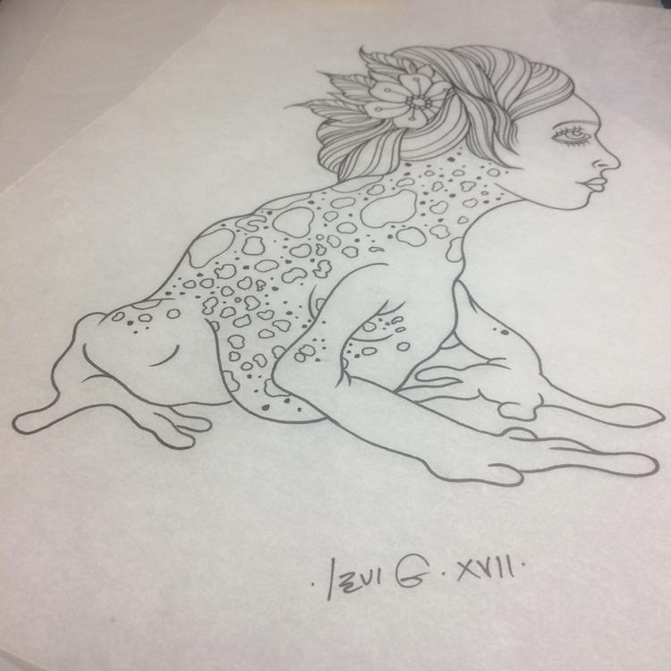 lady wearing - Poisonfrog, tattoo - levigreenacres   ello