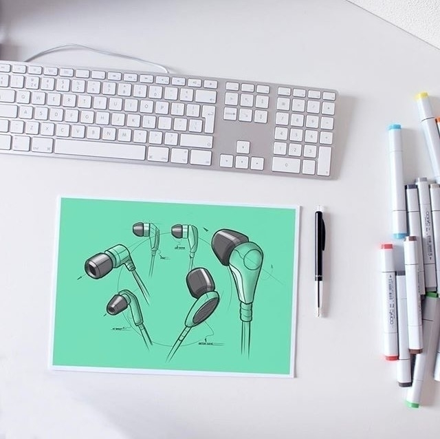 Earphone ideation sketches - earphones - letsdesigndaily | ello
