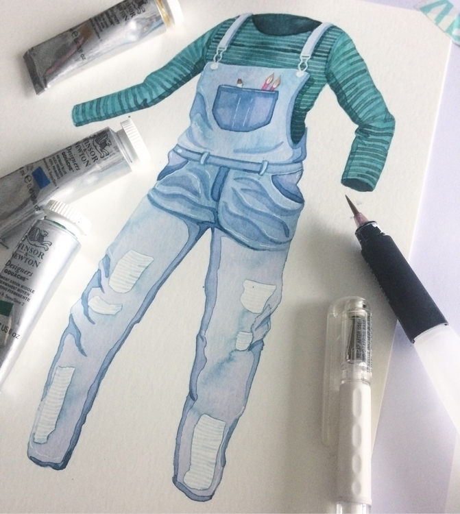Disembodied dungarees - art, illustration - zowiegreen | ello