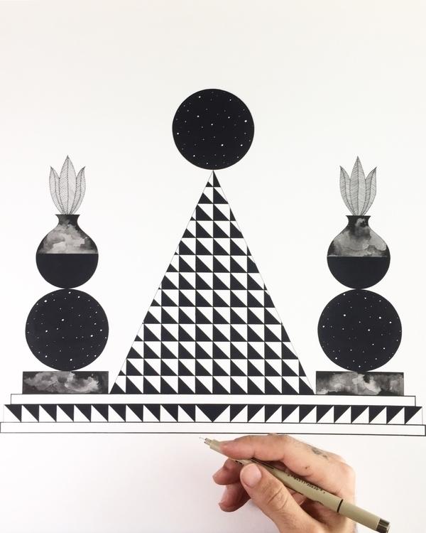Current point view - drawing, illustration - adrianlandonbrooks   ello