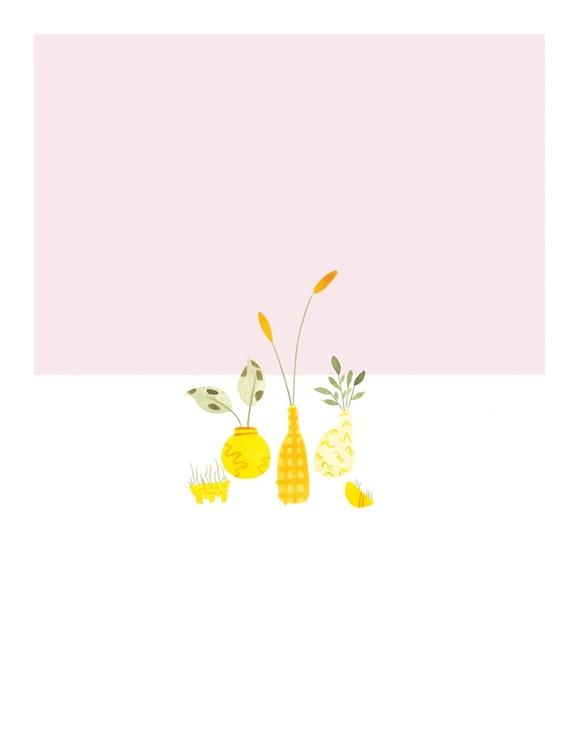 'Plant study pink' 2016 - watercolor - mitsubishiufjfinancial   ello