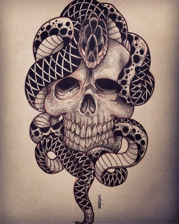 tattoo, blackwork, snaketattoo - _i_baliberdin | ello