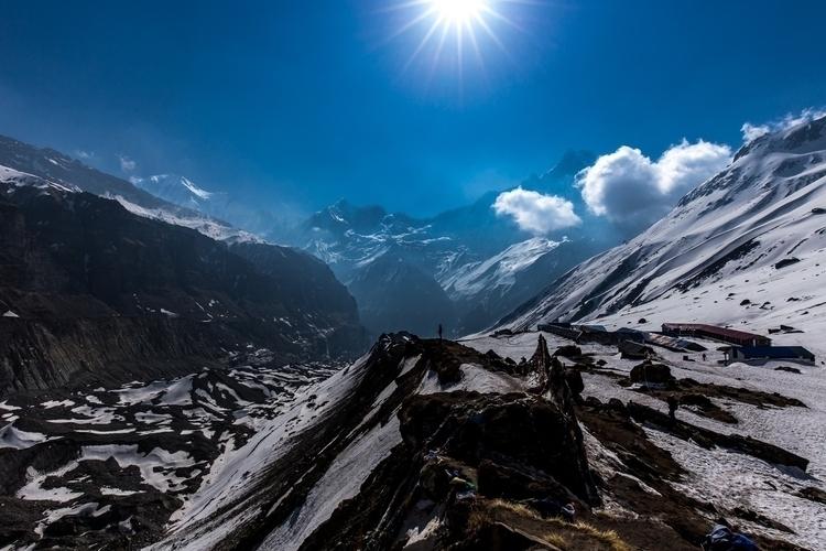 Mountains, ABC, Nepal** east Ma - papa_delta | ello