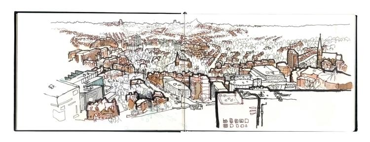 Sheffield - drawing, watercolour - simonrott | ello