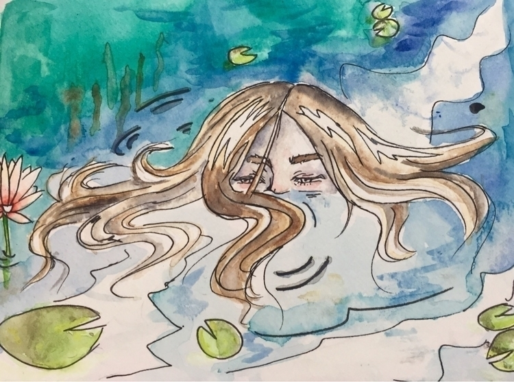 April/17 - watercolor, painting - nellie380 | ello