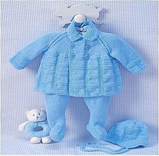 beautiful knit baby outfit, gra - yarnofcrochet | ello