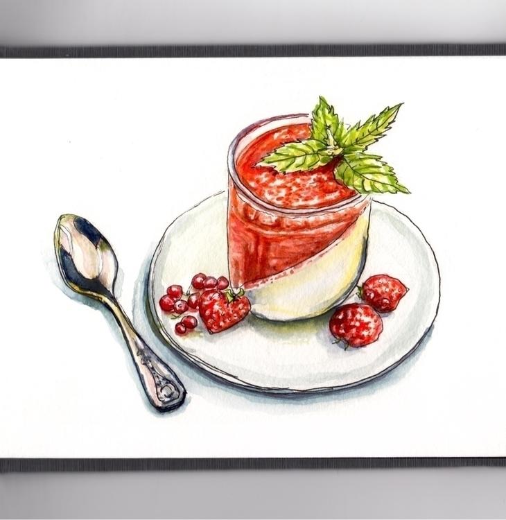 Doubt, Sketch Dessert - watercolor - doodlewash | ello