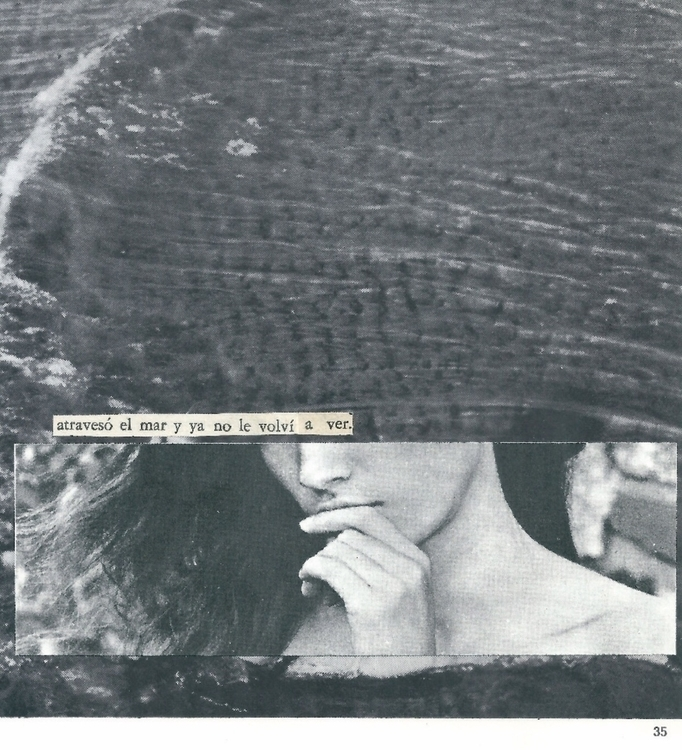 Atravesó el mar, collage hecho  - annitaklimt   ello