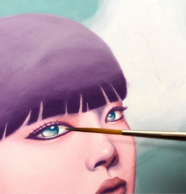 slowly coming Working painting  - carolinaseth | ello