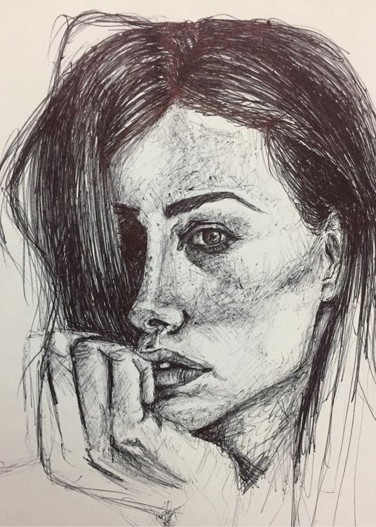 girl, hand, drawing, ellodrawing - nellie380 | ello