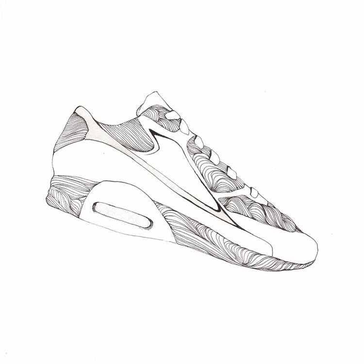 sneakers, blackandwhite, graphicsketch - s-d-c | ello