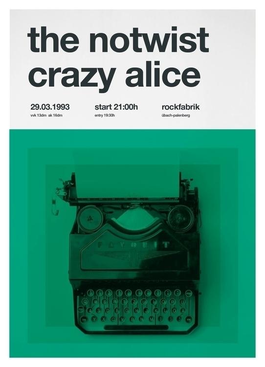 Poster redesign - music, swiss, helvetica - randpop | ello