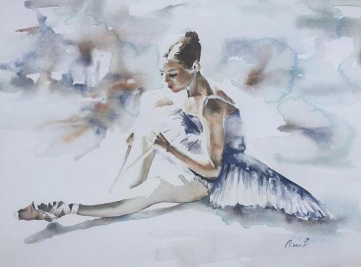 Ballerina Dreams – Watercolour  - bitfactory | ello