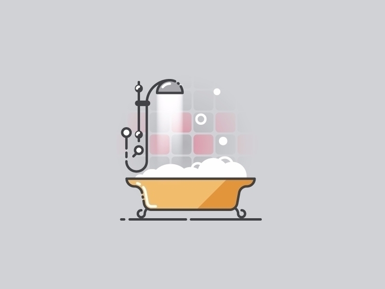 Time bath - vector illustration - kirp | ello