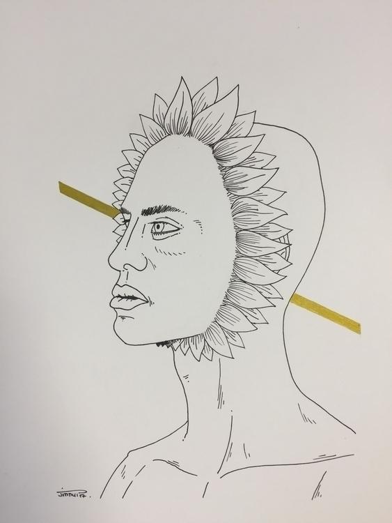 en fleur - illustration, art, man - jimmy-draws | ello