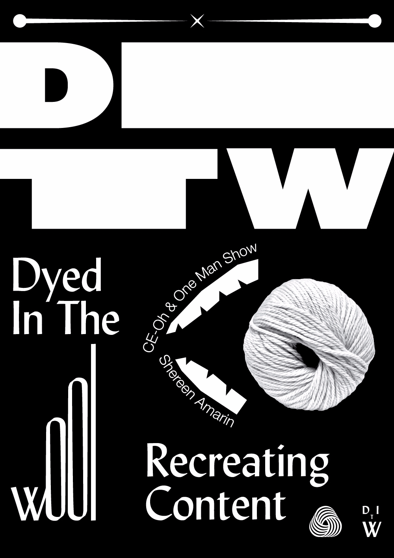dyedinthewool, poster, typography - saeed | ello