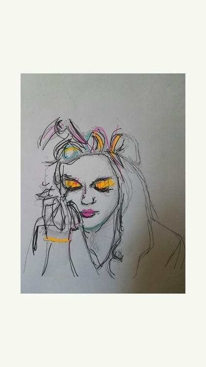 sketches bus, yo - elloart, painting - andaelentari   ello