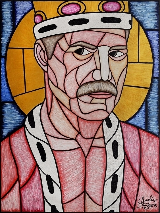 'St Freddie' Church oil canvas - andieshore | ello