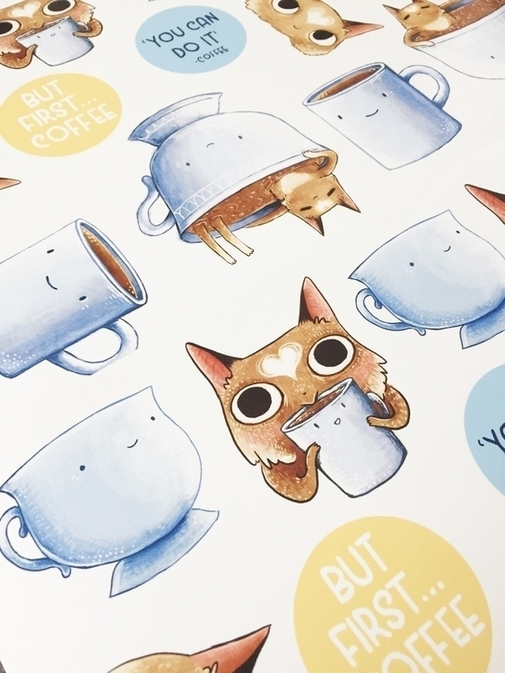 printed stickers yesterday, hap - nikkismitsillustration | ello