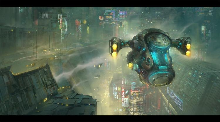cyberpunk, scifi, city, art - ukimalefu | ello